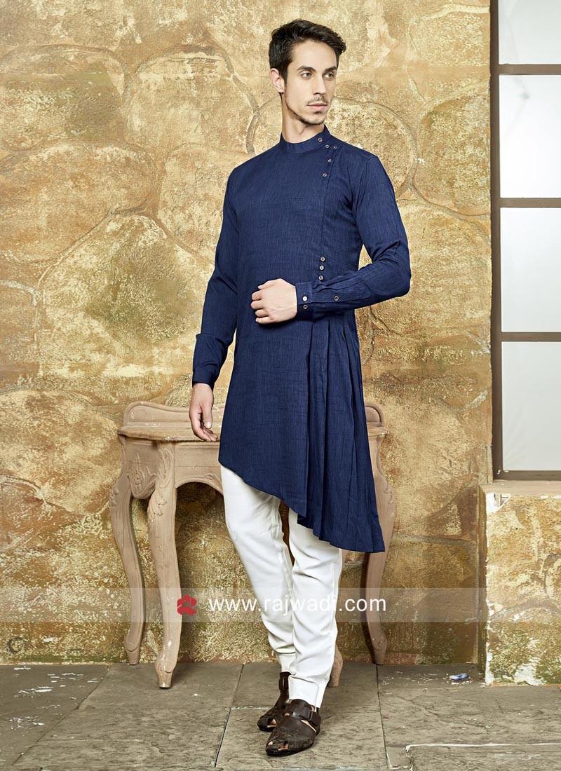 Art Silk Fabric Pathani Suit