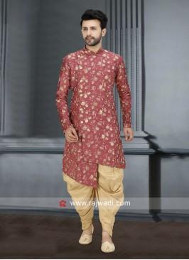 Brocade Silk Fabric Patiala Suit