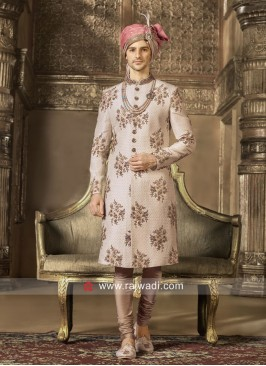 Art Silk Fabric Sherwani For Wedding