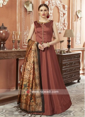 Art Silk Floor Length Anarkali Salwar Kameez