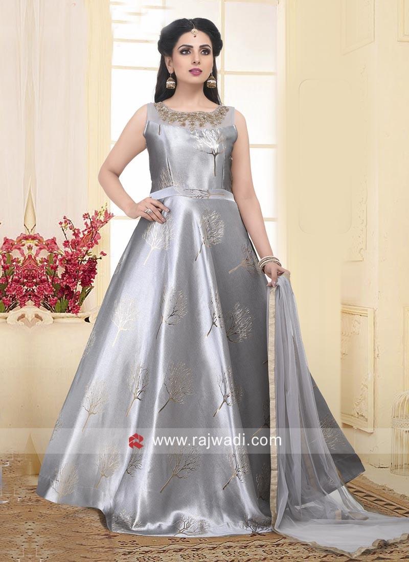 Art Silk Floor Length Anarkali Suit