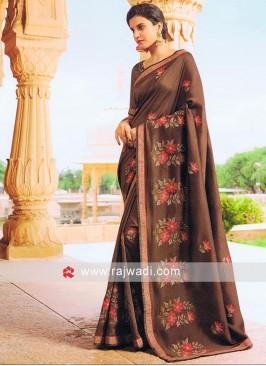 Art Silk Flower Embroidered Saree
