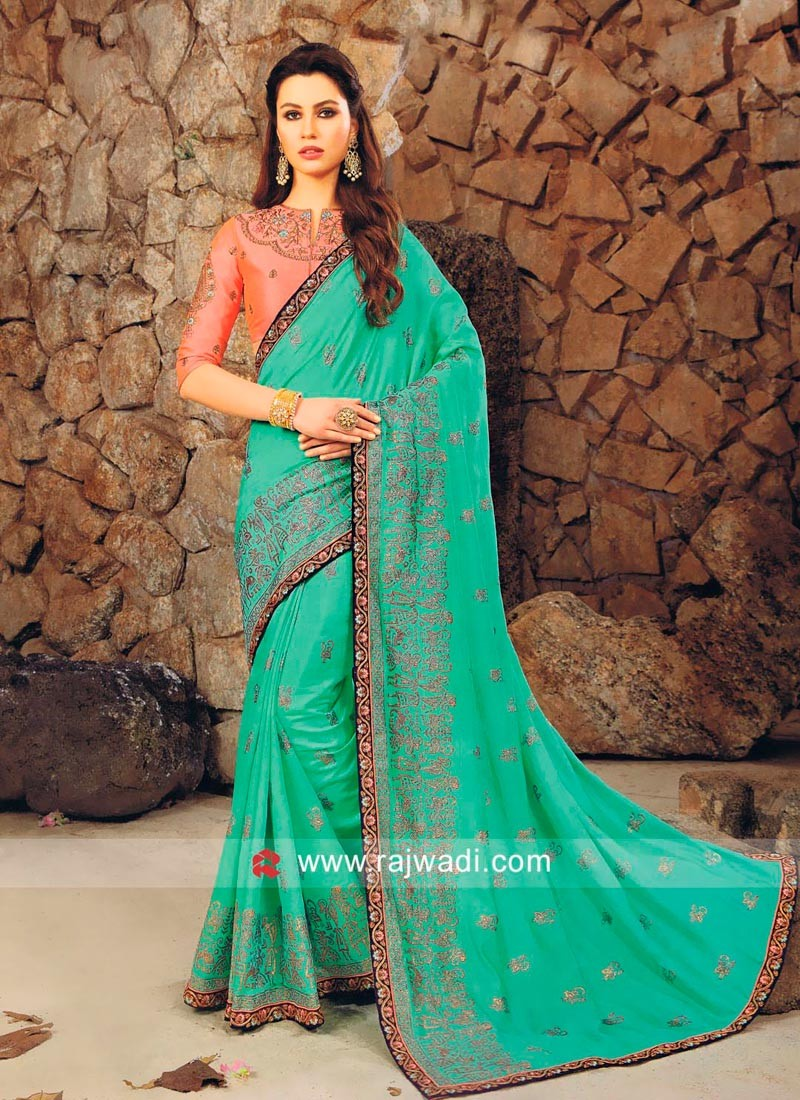 Art Silk Foil Print Saree