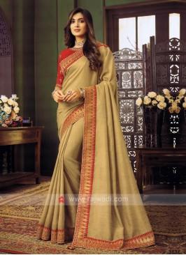 Art Silk Goldenrod Saree