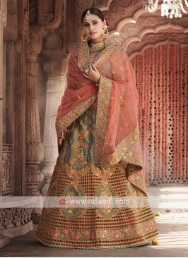 Art Silk Grey Lehenga Choli