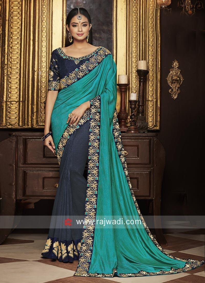Art Silk half n half Designer Saree