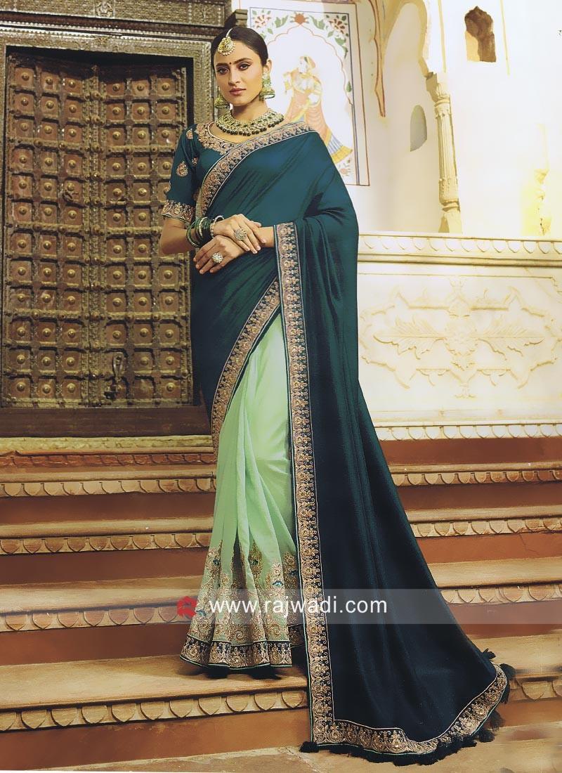 Art Silk Half n Half Saree