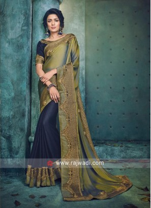 Art Silk Half n Half Saree