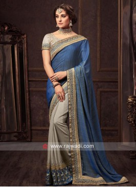 Art Silk Half Sari with Blouse