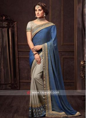Art Silk Half Sari with Blouse