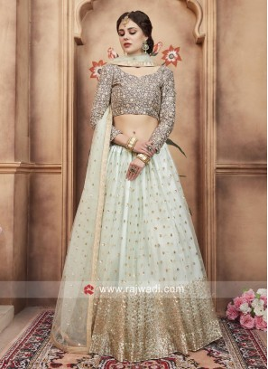 Art Silk Heavy Embroidered Lehenga Set