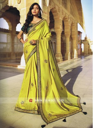 Art Silk Heavy Embroidered Saree