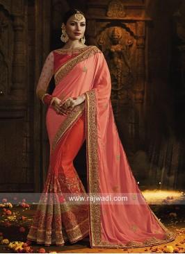 Art Silk Heavy Half n Half Saree