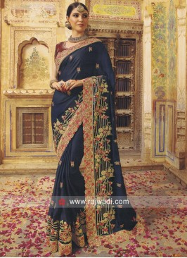Art Silk Heavy Saree with Cut Work Border