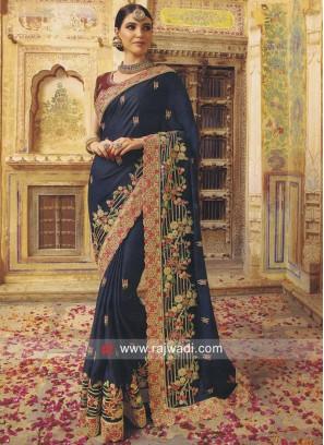 Art Silk Heavy Saree with Cut Work Border