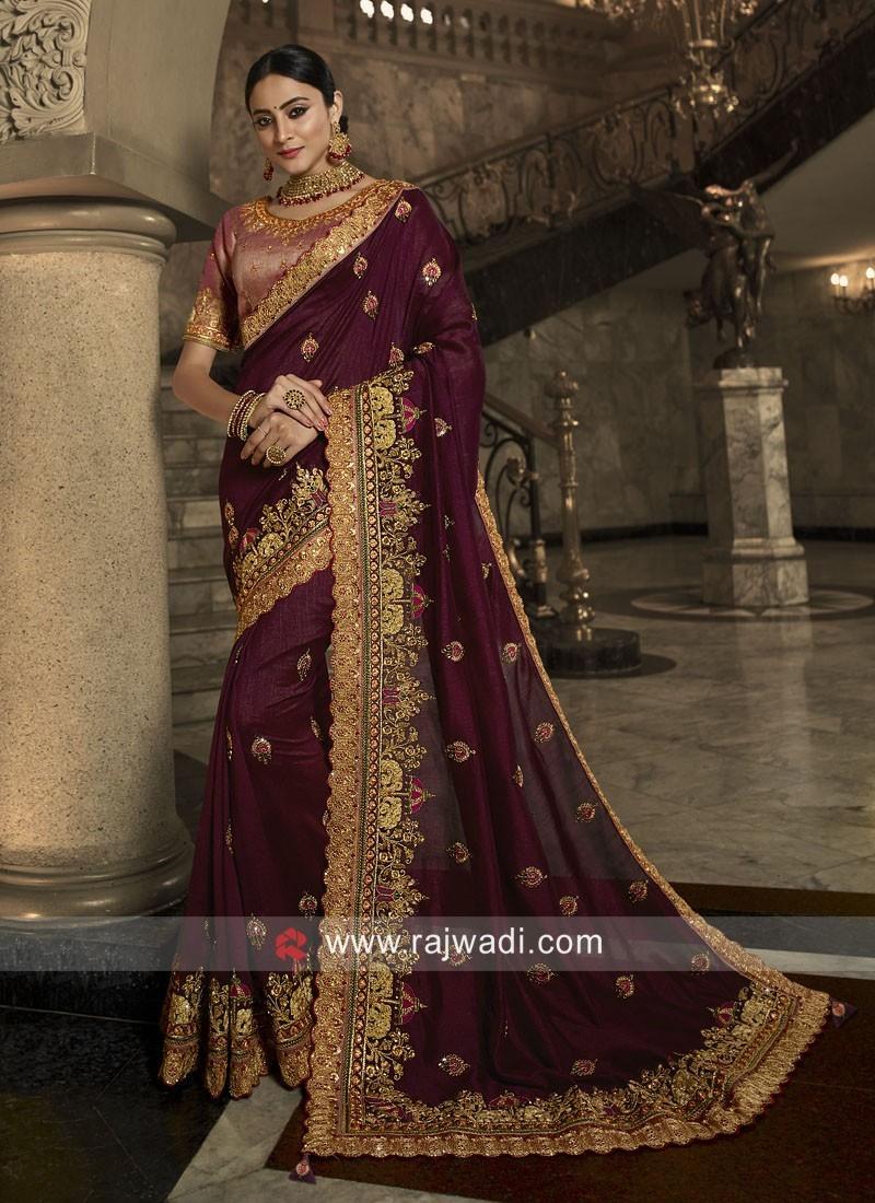 Art Silk Heavy Saree with Raw Silk Blouse