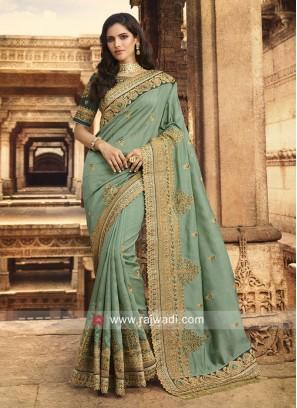 Art Silk Heavy Wedding Saree