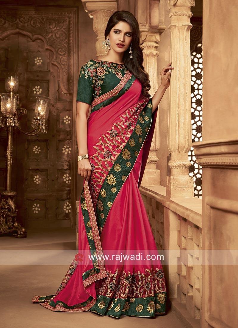 Art Silk Heavy Work Wedding Saree