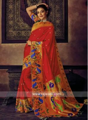 Art Silk Kajal Aggarwal Designer Saree