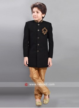 Art Silk Kids Indo Western with Buttons