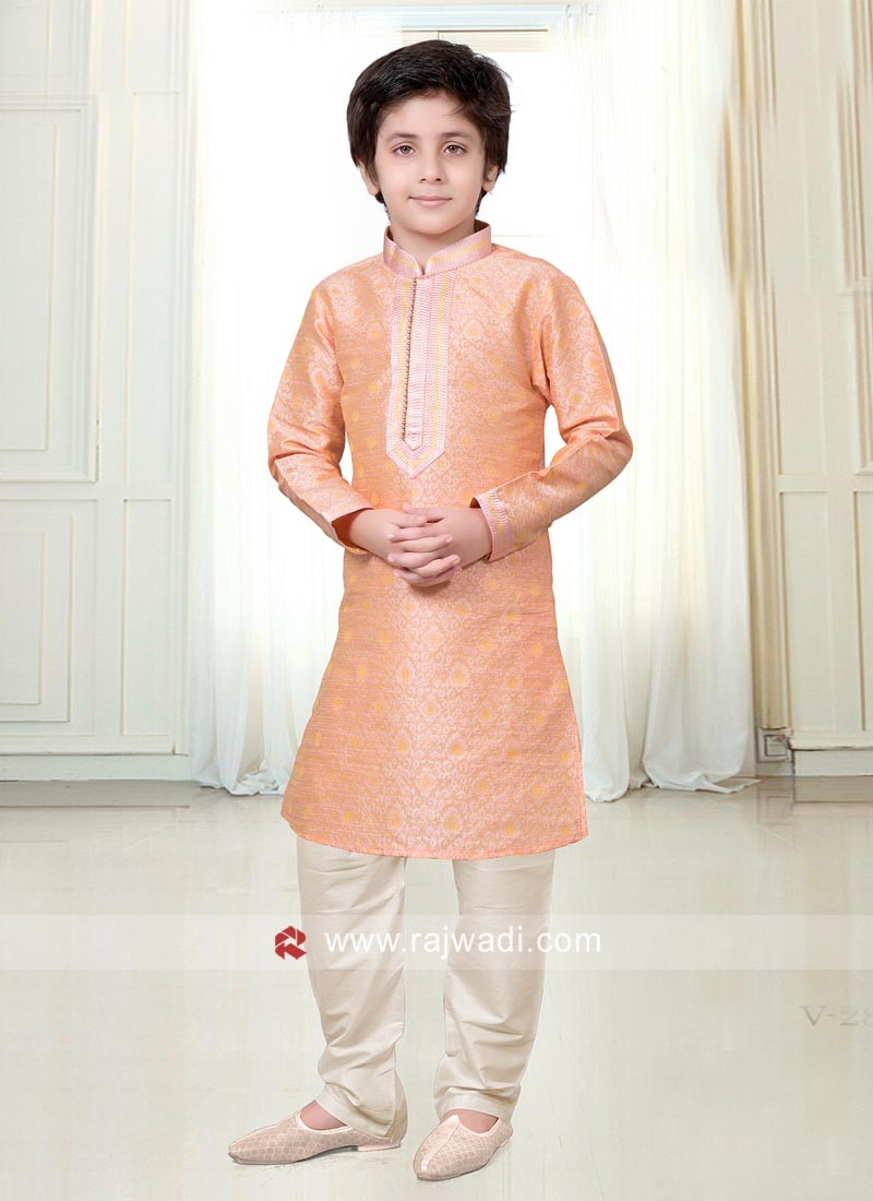 Art Silk Kids Kurta Pajama