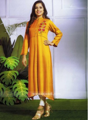 Art Silk Layered Kurti