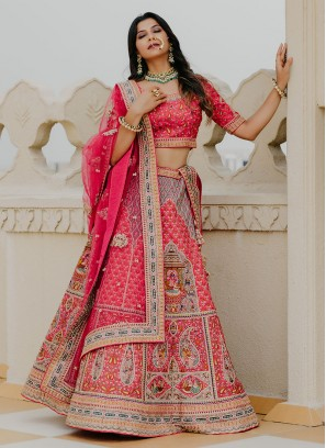 Art Silk Lehenga Choli For Wedding