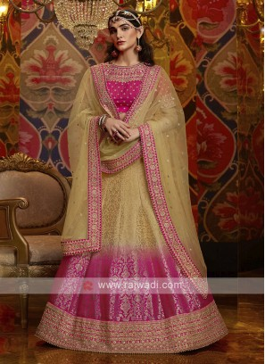Art Silk Beautiful Lehenga Choli