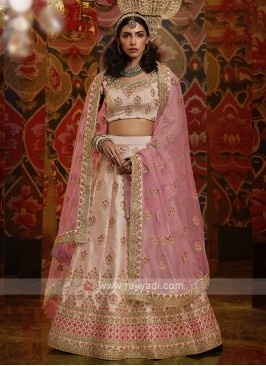 Art Silk Lehenga Choli In Light Peach