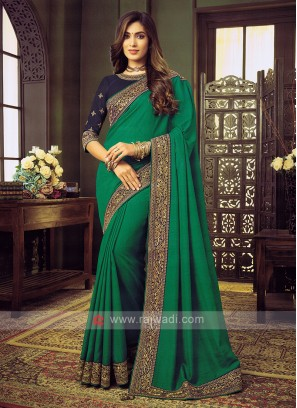 Art Silk Light Green Saree