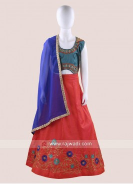 Art Silk Navratri Chaniya Choli for Girls