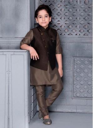 Art Silk Nehru Jacket For Boys