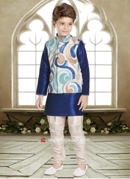 Art Silk Nehru Jacket Set