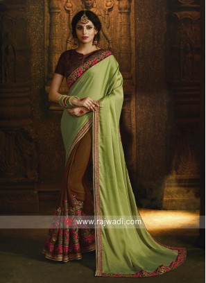 Art Silk Party Wear Saree