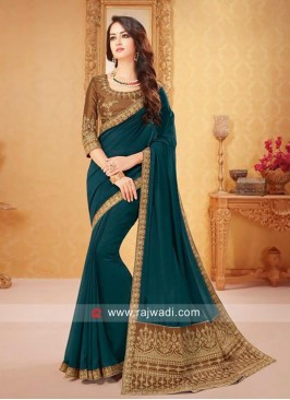 Art Silk Party Wear Sari