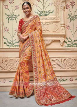 Art Silk Patola Saree with Blouse