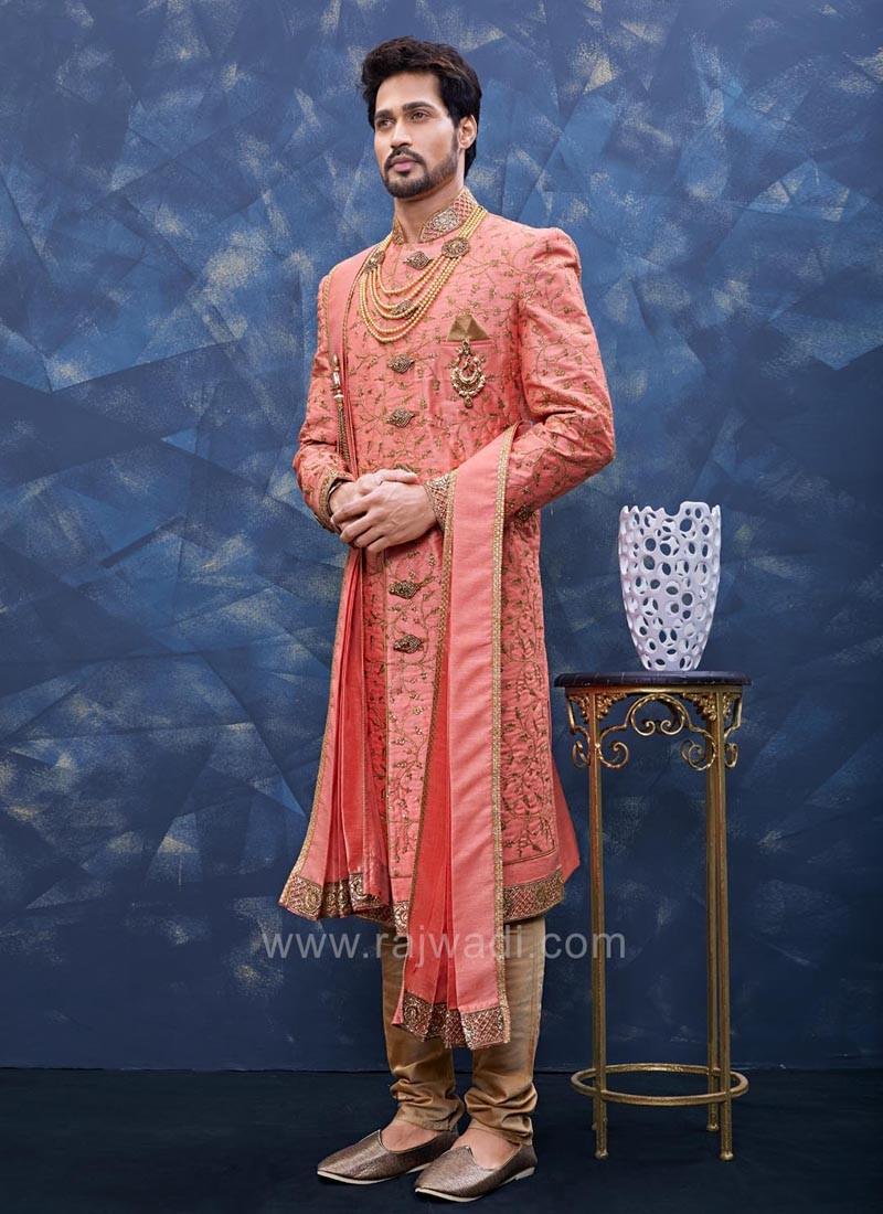 Art Silk Pink Color Indo western