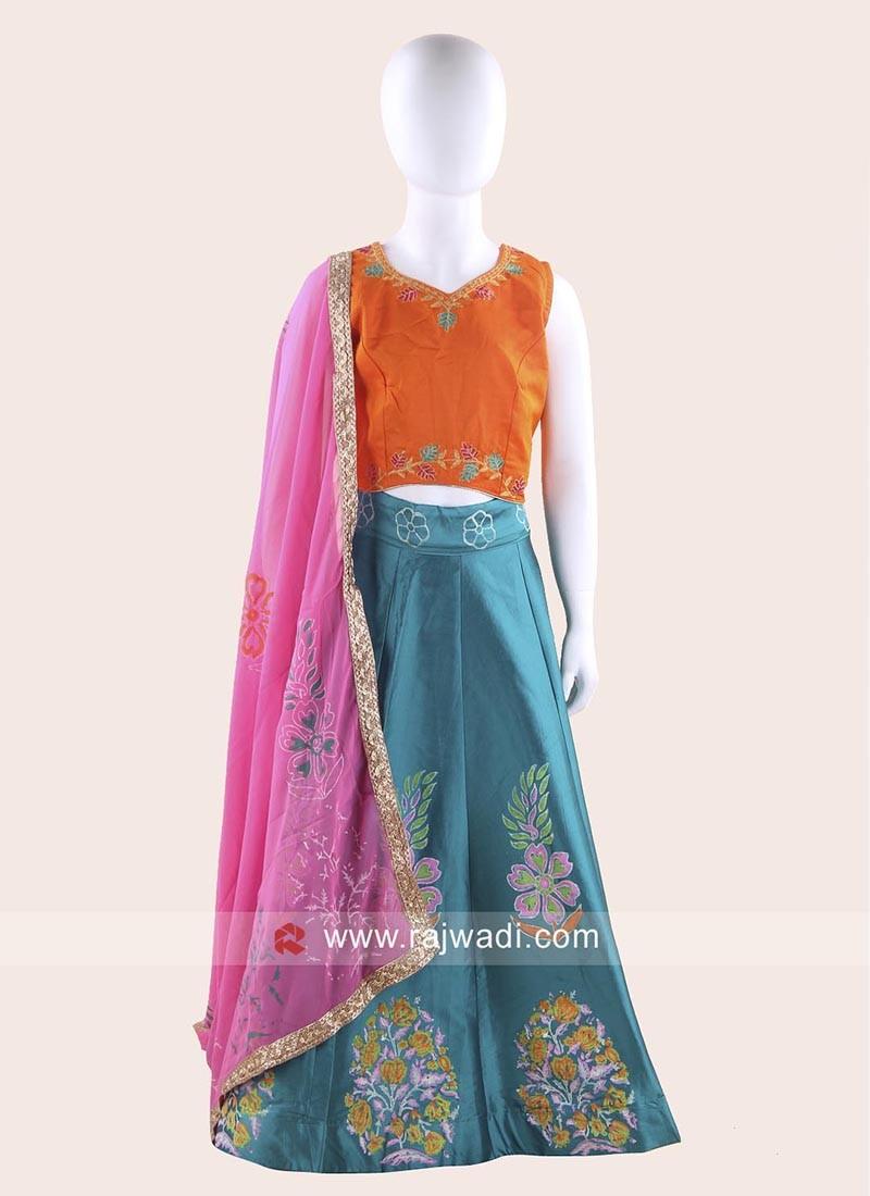 Art Silk Printed Navratri Chaniya Choli