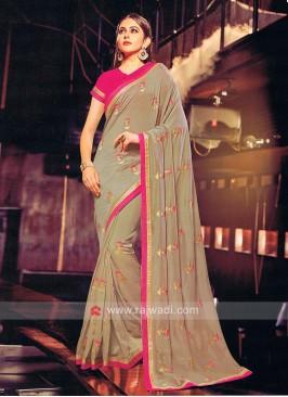 Art Silk Rakul Preet Singh Designer Sari