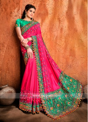 Art Silk Rani Designer Saree