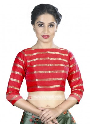 Art Silk Ready Blouse In Red