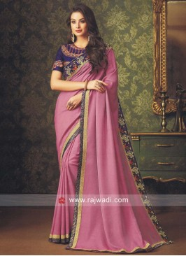 Art Silk Resham and Zari Work Saree
