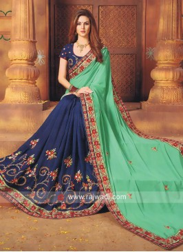 Art Silk Resham Work Half Saree