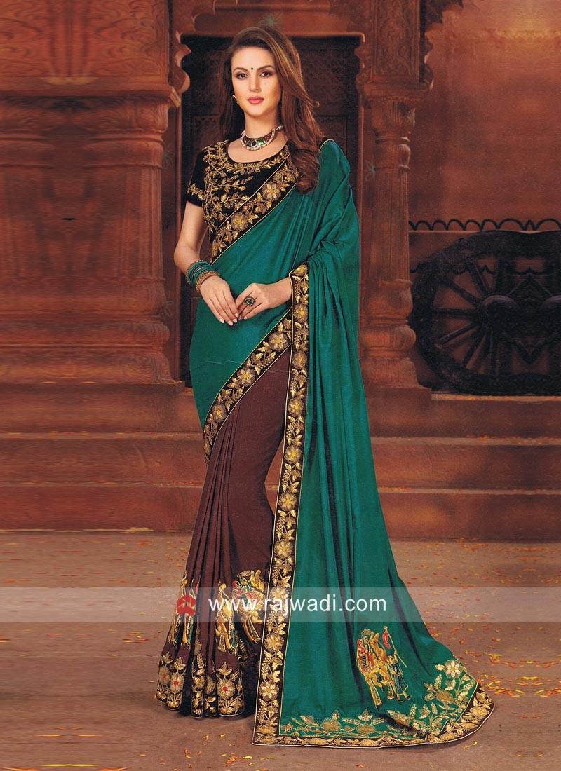 Art Silk Resham Work Saree