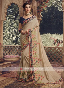 Art Silk Saree In Beige