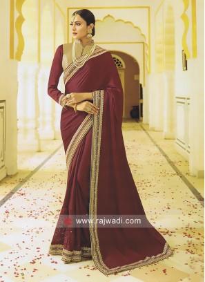 Art Silk Saree in Maroon