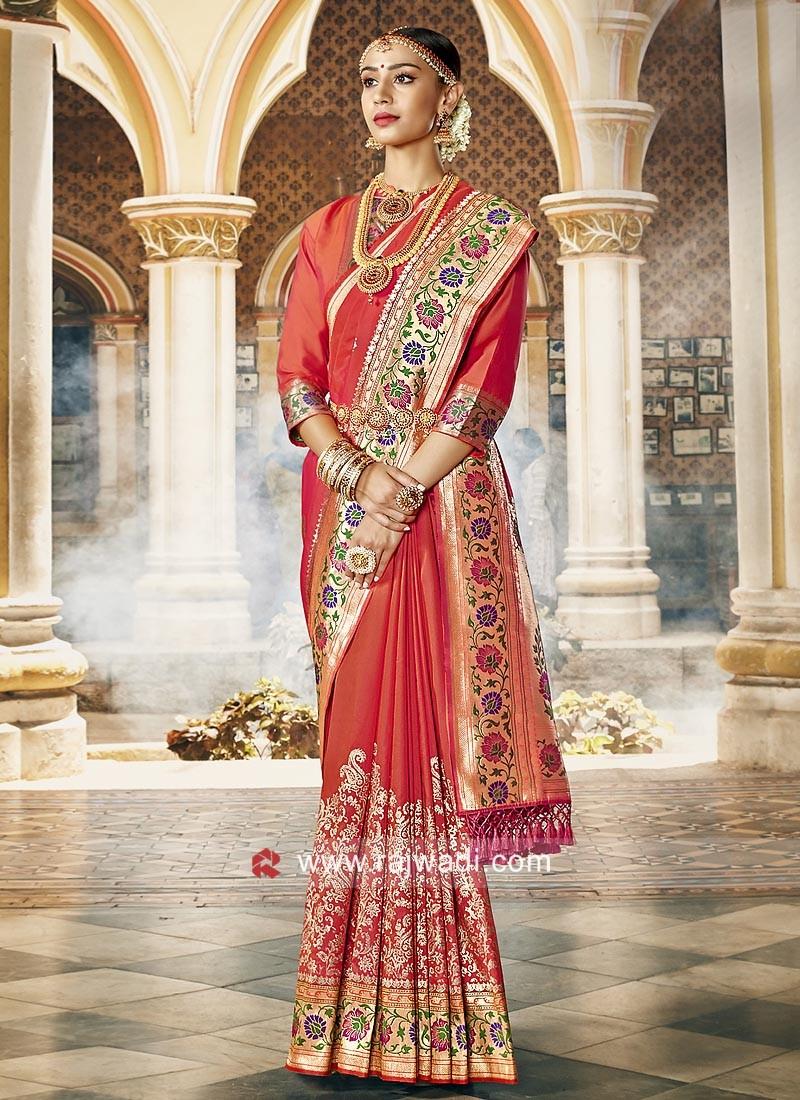 Art Silk Saree with Blouse