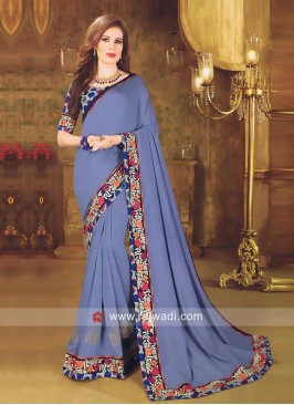 Art Silk Saree with Designer Border