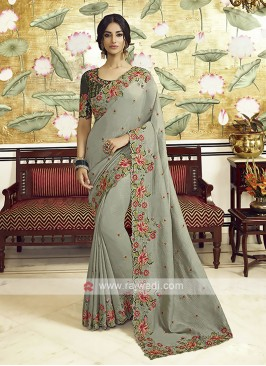 Art Silk Sea Green Saree