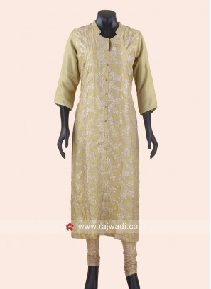 Art Silk Sequins Work Kurti